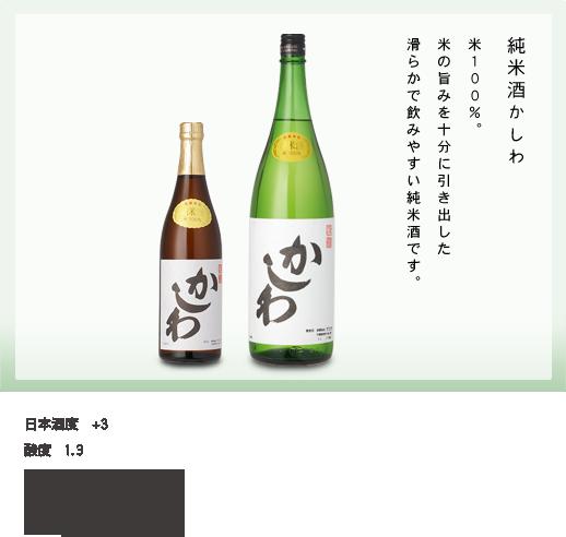 米100%。米の旨みを十分に引き出した滑らかで飲みやすい純米酒です。